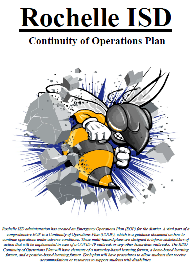 Rochelle ISD: Continuity of Operations Plan in Response to COVID-19